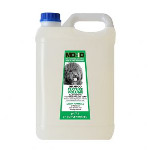 MD10 Texture Volume Shampoo 5 Litre (20 Litre Diluted) Spanish Water Dog, Poodle, Bichon Frise, Curly Coat, Shiba, Lagotto, Pomeranian